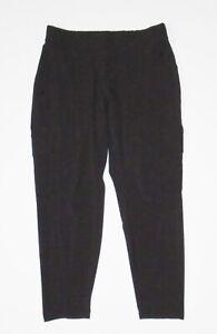 ATHLETA Fitness Pants CHELSEA CARGO Pant in BLACK Yoga Workout Jogger Sz 12