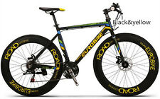 Brand New Cyber EURO Hybird XC76 flat bar 21 sp 70MMwheel road bike Black&Yellow