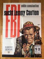 FBI sucht Lemmy Caution (Kinoplakat '64) - Eddie Constantine