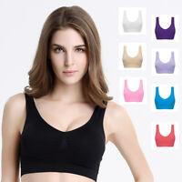 NEW WOMENS SEAMLESS COMFORT BRA Shapewear Sports Stretch Crop Top Vest Support
