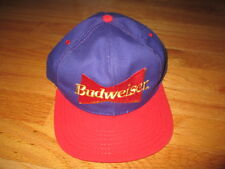 Vintage BUDWEISER Logo Beer (Adjustable Snap Back) Cap PURPLE / RED