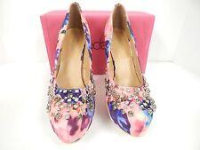 "Shoedazzle Women's Diandra Pink 6"" Stiletto Jeweled Platform Pump Size 10 M"