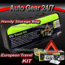 European Euro EU NF Approved Continental Driving Abroad Legal Safety Travel Kit