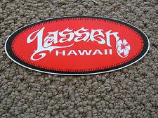 vintage sticker decal surfboard longboard christian riese lassen hawaii surfing