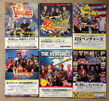 The VENTURES Japan flyer poster SET of 6! LIVE concert memorabilia 2005-2013