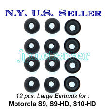 12 large Motorola S9 S9-HD S10-HD replacement earbuds - Motorokr eargel eartips