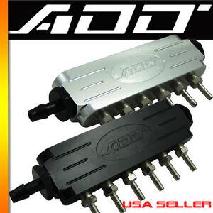 ADD W1 Universal Aluminum Boost Vacuum Manifold 1/8 NPT Map Sens Bov Fuel Gauge