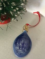 Royal Copenhagen 1994 Tear Drop Family Porcelain Ornament Htf?