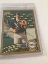 2011 TOPPS PRO DEBUT WIL MYERS #11 ROOKIE CARD Gold # 21/50