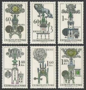 Czechoslovakia 1698-1703,MNH.Michel 1952-1957. Gothic Town Halls,Towers,1970