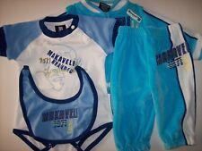 Makaveli Outfit 4pc Set Baby Infant Boys 0-9 Mos Bib Jacket Pant Bodysuit NWOT