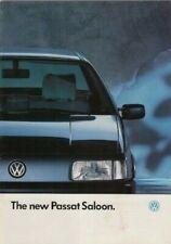 Volkswagen Passat Saloon 1988-89 Market Sales Brochure GT 16v GL CL