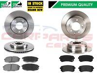 Avant 2 Disques de frein ET PADS SET NEW 02-06 Pour KIA Sorento 2.5 Crdi 3.5 V6