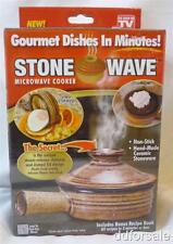 Stone Wave Microwave Cooker With Bonus Recipe Book From Telebrands