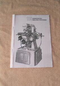 Adcock & Shipley 1ES Milling Machine Manual