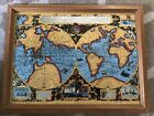 VERA TOTIVS EXPEDITIONIS NAVTICA MIRRORED FOIL MAP FRAMED