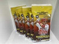 (6) 2020 TOPPS Baseball Series 2 Cello Fat Packs Luis Robert RC Free Shipping
