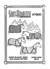 HORSE RIDING SUITABILITY SET OF HORSE RUG BLANKET SEWING PATTERN 7900