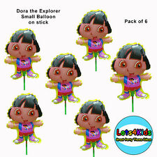 DORA THE EXPLORER SMALL PARTY BALLOON ON STICK LOOT BAG FILLERS - PACK OF 6