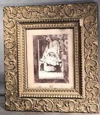 Antique Vintage Picture Frame Gilt Gesso Wood Victorian Aesthetic 8x10 Photo Kid