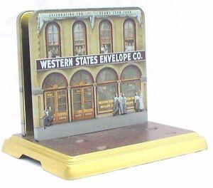 Embossed Custom Tin Letter Mail Holder 100th Anniversary Western States Envelope