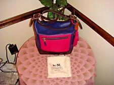 NWOT COACH Legacy Leather Colorblock Duffle Bag Purse 19995 New Fuchsia $398