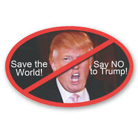 CS234 Save the World Say NO to  President Donald Trump Lips Image Photo Sticker