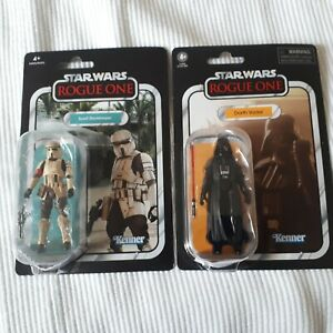 Lot Star Wars Vintage Collection : 2 figurines (ROGUE ONE: SCARIF & DARTH VADER)