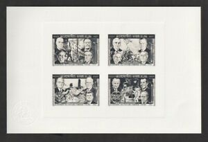 Laos 1975 Sc #269-269I Kennedy & Presidents 3 Sunken Collective Die Proofs/Seals