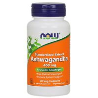 NOW Foods Ashwagandha Extract, 450 mg, 90 Veg Capsules