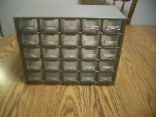 25 drawer all plastic parts cabinet with handles on drawers bin storage