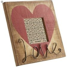 Pier 1 Imports Heart Love Wood & Wire picture Frame Rustic Farmhouse