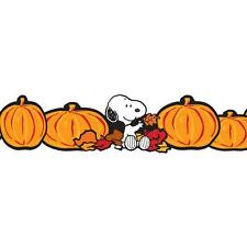 EUREKA Bulletin Board Border PEANUTS FALL PUMPKIN Extra Wide Deco Trim EU845081
