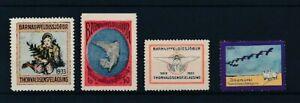 D163304 Iceland Thorvaldsensfelagsid Christmas Seals Poster Stamps 4 values