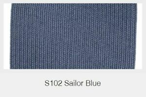 Solid Sailor Blue 100% Wool New England Country Home Classic Braided Rug