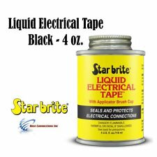 Star Brite 84104 Black Liquid Electrical Tape w/ Applicator Brush Cap 4 oz