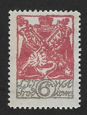 Central Lithuania, 1920 New Daily Stamp 6M Mint Hinged  (BX2)