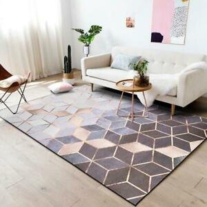 Rose Gold Euclid geometric Area Rug Home Living decor Floor Carpet Print Rugs