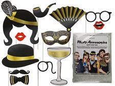12er Set Party Foto Verkleidung auf Stick MASKE Hut Karneval Fasching Selfie