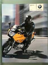 BMW Motorrad F 800 S 2006 Brochure Prospekt Prospect DE