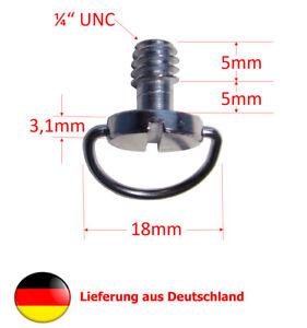 """1/4"""" Zoll Kameraschraube Stativschraube mit D-Ring"""