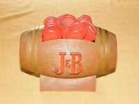 VINTAGE BARWARE J & B SCOTCH WHISKEY FOOTBALL WITH 19 MAKERS MARK SWIZZLE STICKS