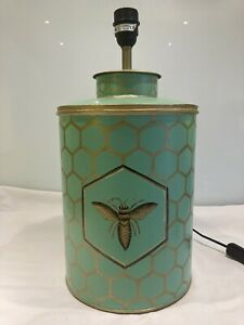 large contemporary Toleware, Painted Tin Table Lamp Base , Bee Theme