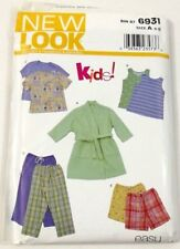 Simplicity 6931 New Look Kids Childs Pajamas Sleepwear Tops Pants Robe 3 To 8