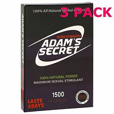 3 PACK Adam's Secret Male Enhancement Pills Men Sexual Performance Enhancer =30
