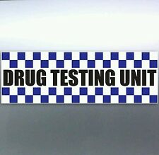 Police Drug Testing Unit Sticker pigs weed funny cops bacon car Vinyl 200mm 4x4