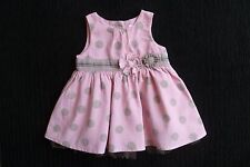 Baby clothes GIRL 0-3m NEXT pink spot corded cotton no sleeves dress underskirt