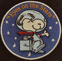 SNOOPY NASA SPACE PATCH - EYES ON THE STARS - MOON LANDING CAMPAIGN - 3""