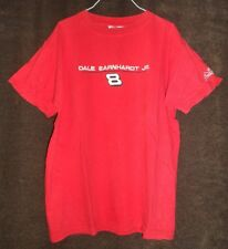 DALE EARNHARDT JR 8 Pre-2007 Used Budweiser NASCAR Embroidered Red T-Shirt Large