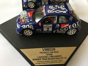 PEUGEOT 306 MAXI SPAIN WINNER RIAS BAJAS RALLYE 97 J.AZCONA/J.BILLMAIER 1/43